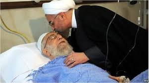 President Hassan Rouhani visited Ayatollah Khamenei in hospital after the surgery