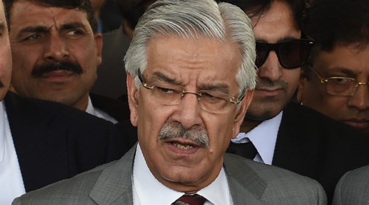 Defence Minister Khawaja Mohammad Asif