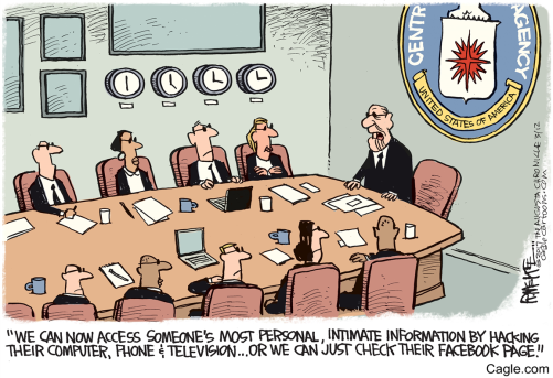 Image result for cartoons on nsa and facebook spying on american people